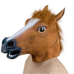 horse christmas decorations uk new years horse head mask animal costume n toys party halloween - Horse Christmas Decorations Uk