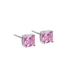 Wholesale pink earrings wholesale - Cubic Zirconia Crystal Stud Earings Fashion Jewelry Trendy Women Men pink Crystal Earrings Crown Earring Piercing Gifts Drop Ship 350046