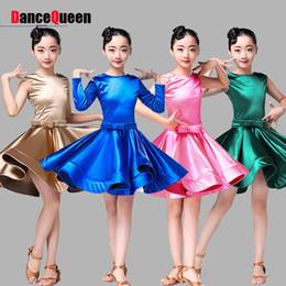 красивые костюмы Скидка Nice Latin Dress For Girl Dress Fresh Color Novel School Dance Exam Skirt Children School Female Ballroom Samba Costume Q11124