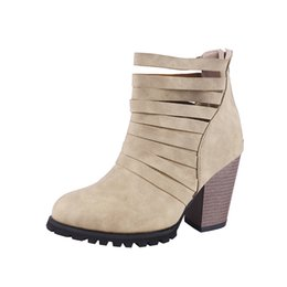 2019 botas de cuña negras de las mujeres Tallas grandes 34-43 Nuevo 2018 Moda Mujer Cuñas Matin Boots Tacón alto 9 cm Botas Mujer Otoño Bottes Femme Pu Zapatos de cuero negro botas de cuña negras de las mujeres baratos