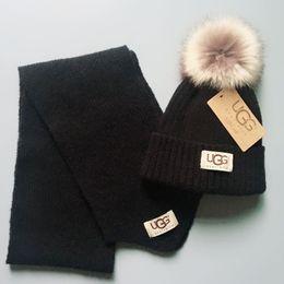 Милый Единорог детские вязаные шапки с шарфом набор зима ветрозащитный дети мальчики девочки теплая шапка шапки для детей шарф шапочки шапки от