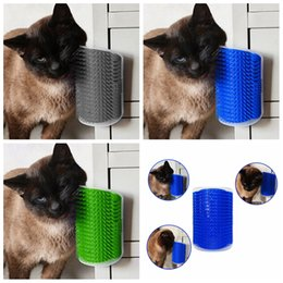 Wholesale Self Cleaning Brush - Pet Dog Cat Rubber Self Comb Groomer Wall Corner Massage Grooming Cleaning Brush Hair Shedding Trimming Device with catnip AAA455