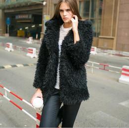 Wholesale winter furry jacket - Clobee Artificial Women's Faux Fur Coats 2018 Winter Fur Overcoats Furry Jacket Femme Big Size Warm Fake Outwear Z731