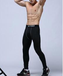 Wholesale jogging capris men - Mens Compression Pants Sports Running Tights Basketball Gym Pants Bodybuilding Joggers Jogging Skinny Leggings Trousers