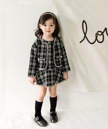 Wholesale Girls Long Winter Coats - Baby Girl Grade Coats + Dresses Set Girls Christmas Dresses Children's Clothing 2 PCS 4 s l