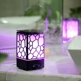 New Air Umidificatore Cool Mist Lampada 200 ML Water Cube Olio essenziale Diffusore di aromi con 7 colori che cambiano LED Light USB Ultrasonic SPA da massaggi sportivi corpo fornitori