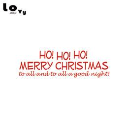 segen-aufkleber Rabatt Ho! Ho! Frohe Weihnachten Vinyl Wandaufkleber Xmas Blessing Wandtattoo für Schaufenster Wohnkultur WA0599