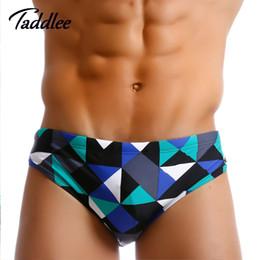 Wholesale Padded Briefs - Taddlee Brand Brazilian Classi Cut Mens Swimwear Sexy Swimsuits Swim Briefs Bikini Gay Penis Pouch Pad Inside Surf Board Shorts