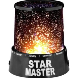 Wholesale amazing projector - Amazing Colorful of Star Sky Cosmos Sky Star Master Projector LED Starry Night Light Star Master Lamp Party Decoration Lamp CCA9786 100pcs