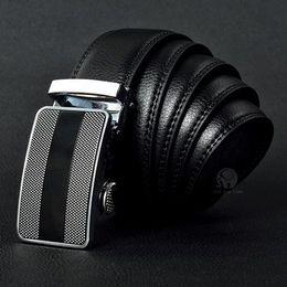 Ceintures noms de marque en Ligne-Meilleure qualité designer de marque de mode mode hommes affaires ceinture ceintures boucle automatique ceintures en cuir véritable pour hommes 105-125 cm livraison gratuite
