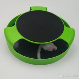 2019 детские игрушки Пластиковые поймать мышь игрушки зеленый круглый Motion Cat игрушки поворотный стол черный с зеленым горячей продажи 9 3xy B дешево детские игрушки