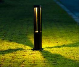 2019 semplici luci da giardino CLAITE LED Garden Light Outdoor impermeabile moderno in alluminio moderno Bollard prato lampada LLFA sconti semplici luci da giardino
