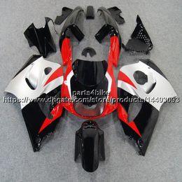 2019 carenado gsxr rojo negro plata 5Gifts ++ Custom ABS Rojo negro plata Carenado para Suzuki GSX-R600750 1996 1997 1998 1999 2000 GSXR 600 750 kit de plástico de la motocicleta