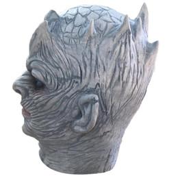 Máscara humana completa online-Hombres de caza Latex Scary Mask Cara completa Cosplay Horror para Halloween Terror máscara divertida scary realista Cabeza humana de Halloween Máscara