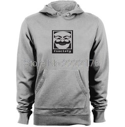 Wholesale Mask Hoodies - Mr Robot Fsociety Anonymous Mask Mens & Womens unique design Hoodies