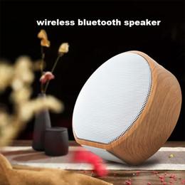 2019 bluetooth lautsprecher hy Holzmaserung drahtlose Bluetooth-Lautsprecher-beweglicher Mini Subwoofer Audio Geschenk Stereo-Lautsprecher Sound-System TF AUX USB A60