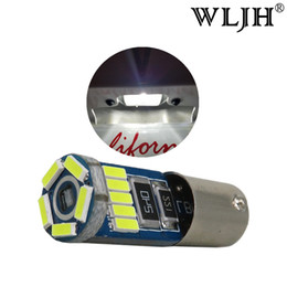 Wholesale Automobile Instruments - WLJH Canbus LED BA9S T4W 64111 12V 4014 SMD Automobiles Car Styling Light Interior Parking Dash Bulb License Plate Light Lamp Led