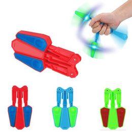 Wholesale Kids Toys Lights - Flip Finz Fidget Spinner Finger Hand Toys Spin Focus Spin EDC LED Light kid Gift Decompression Toy BBA111