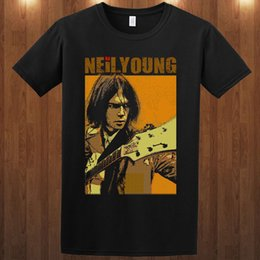 Neil junges t-shirt online-Neil Young t-stück folk rock musiker S M L XL 2XL 3XL T-shirt Die Squires