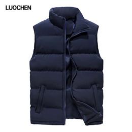 Wholesale korean men winter vest - Vest male Korean version of the tide winter cotton suit waistcoat men's student cotton vest size QC-A118-988