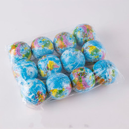 Wholesale Map Tools - Mini Sponge Vent Balls Toy Creative World Map Ball Baby Early Educational Teaching Tool Hot Sale 1td C