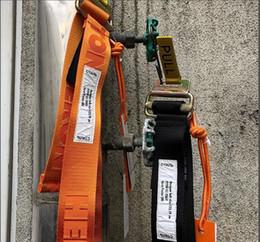 Wholesale orange canvas belt - 2018ss Best Version Heron Preston Canvas Belt Hiphop Streetwear Women Men Belt Heron Preston 120CM Black&Orange
