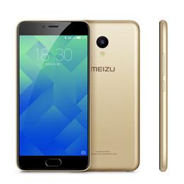 "2019 mtk6572 desbloqueo de doble núcleo Original Meizu M5 3GB RAM 32GB ROM 4G LTE Teléfono móvil MTK MT6750 Octa Core Android 5.2 ""2.5D Glass 13.0MP Identificación de huellas digitales Teléfono celular inteligente"
