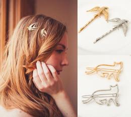 Ragazza stile coreano nuovo stile copricapo Geometrica lega animale clip di capelli gatto volpe coniglio moda parola clip bella clip di capelli all'ingrosso da