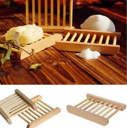 Nuevos jabones de madera naturales platos jabonera de madera titular jabón de baño placa de rack accesorios de baño Hueco OEM disponible I423 desde fabricantes