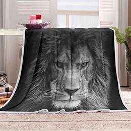 Style américain 3D numérique imprimé tigre noir et blanc animaux sauvages doux Flanelle Throw couverture chaude couverture de couvre-lit / M2013 ? partir de fabricateur