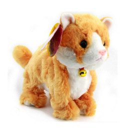 Wholesale Plush Camera - Soft Electronic Pets Sound Control Robot Cats Stand Walk Electric Pets Cute Interactive Cat Electronic Plush Baby Toys For Kids