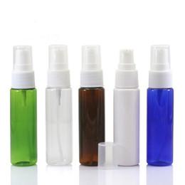 Pompa blu della bottiglia di lozione online-30ml Vuoto Ambra blu verde bianco trasparente Pet Lotion Pump Bottle Crema per lozione di plastica Contenitori cosmetici F1552