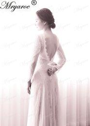 Wholesale Chic Lace - Boho Chic Wedding Dress 2017 Vintage Lace Bohemian Open Back Long Sleeve Lace Wedding Dresses vestido de novia