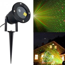 Wholesale sky spotlights - Outdoor waterproof Laser Projector Sky Star Spotlight Showers Landscape DJ Disco Lights R&G Garden Lawn Christmas party