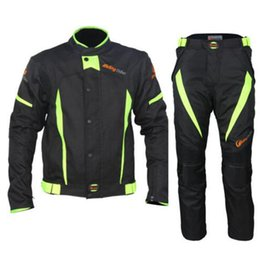 summer motorcycle jacket xxl Promo Codes - Motorcycle Men's Summer Protective Jacketss Pants Sports Set Clothing Suit ATV Motocross Pants Pantalon Moto Jacket