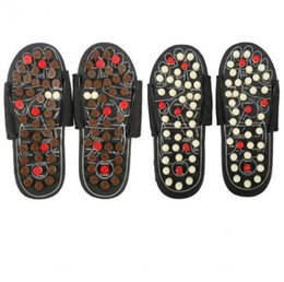 Wholesale foot massage shoes - Foot Massage Slippers Acupuncture Therapy Massager Shoes For legs Acupoint Activating Reflexology Feet Care massageador Sandal