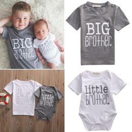 Wholesale Sister Girls - Family Matching Clothes Baby Kids T-shirt Romper for Boy Girl Little Brother Big Brother Little Sister Big Sister Cotton Baby Jumpsuits
