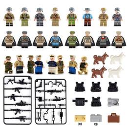 WW2 армия морской флот солдаты с оружием рисунок набор военных мини строительный блок игрушка рисунок от