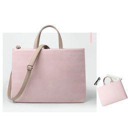 Wholesale macbook messenger - Soft Leather Women Laptop Messenger Bag 13 14 15 15.6 11 12 inch NotCrossbody Shoulder Bag for Macbook Pro Air Lenovo