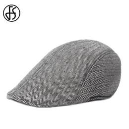 21fe07d6 Discount cabbie caps for men - FS 2017 Winter Cotton Beret Hats Unisex  Fashion Gray Brown