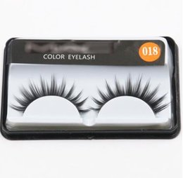Wholesale Full Thick Hair - 2018 New Arrival 30 style Handmade New Eyelash Under Eye Pads Black Long Thick CrossNatural Fake Eye Lashes Extension Women Makeup Beauty