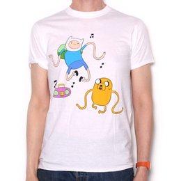 Wholesale adventure time finn jake - Adventure Time T Shirt - Finn & Jake Dancing White 100% Official Adventure Time