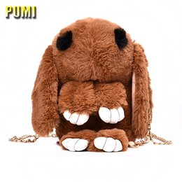 Wholesale Pink Stuffed Bunny - 25CM Cute Rabbit Plush Backpack Lovely Bunny Leisure Stuffed Women Shoulder Bag Brithday Gift for Girls Boy Soft Toy School Bags
