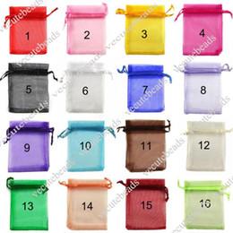Wholesale Organza Bags 9cm - 7cm*9cm Organza Sheer Gauze Element Jewelry Bags Packing Drawable Organza Bags Wedding Gift Bags Sachet Organza Transparent Gauze Bag