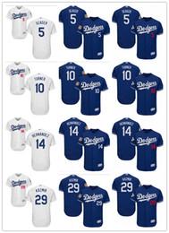 Wholesale Scott Green - custom Men's women youth Majestic LA Dodgers Jersey #5 Corey Seager 14 Enrique Hernandez 29 Scott Kazmir 10 Justin Turner Baseball Jerseys