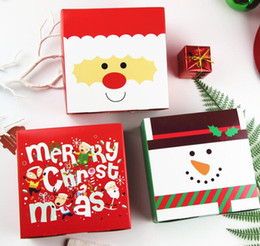 chocolate christmas gift Coupons - Christmas Candy Box Gift Biscuit Chocolate Case Merry Christmas Paper Santa Claus Gift Box 14x14x5 cm