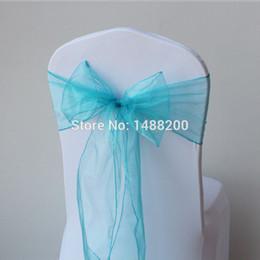 2019 material de hoja Al por mayor-Chair Cover Sashes Organza Material 100 PCS Wedding Sash Wedding Party Decoraciones Bow 7 Color, decoración de la boda supplie Hotel material de hoja baratos