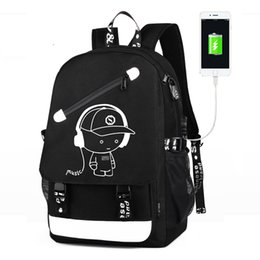 2019 mochilas de oveja Raged Sheep Boys School Mochila Luminous Animation USB Charge Changeover Bolsas de escuela Conjuntos Mochila antirrobo para adolescentes mochilas de oveja baratos