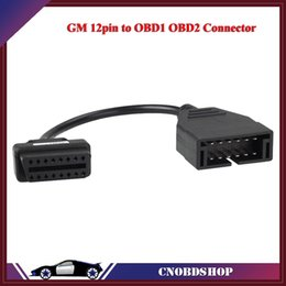 automobile connector Promo Codes - Free Shipping For GM 12pin to OBD1 OBD2 Connector Automobile diagnosis scanner Adapter Connector Cable for GM