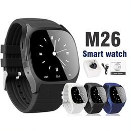 Наручные телефоны для детей онлайн-Bluetooth Smart Watch M26 Наручные часы для Android Smart Watch Dial Phone для системы Samsung S8 Android в розничной упаковке